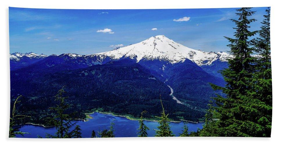 Tim Dussault Beach Towel featuring the photograph Mt.baker Dam by Tim Dussault