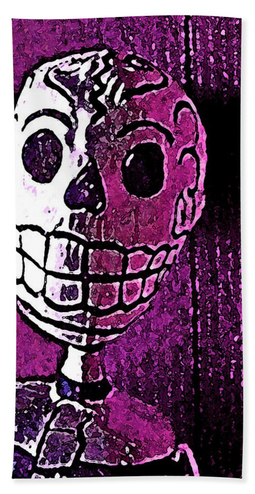 Skull Beach Towel featuring the photograph Muertos 3 by Pamela Cooper
