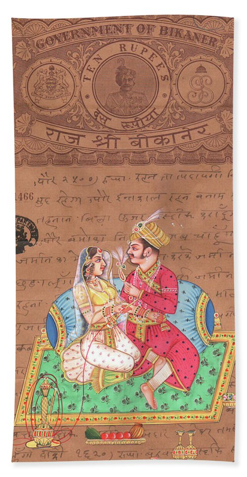Mughal King Art Of Love Kamsutra Indian Miniature -9828