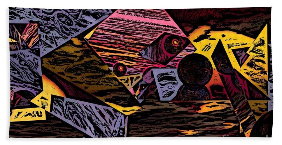 Beach Towel featuring the digital art Multiverse II by David Lane
