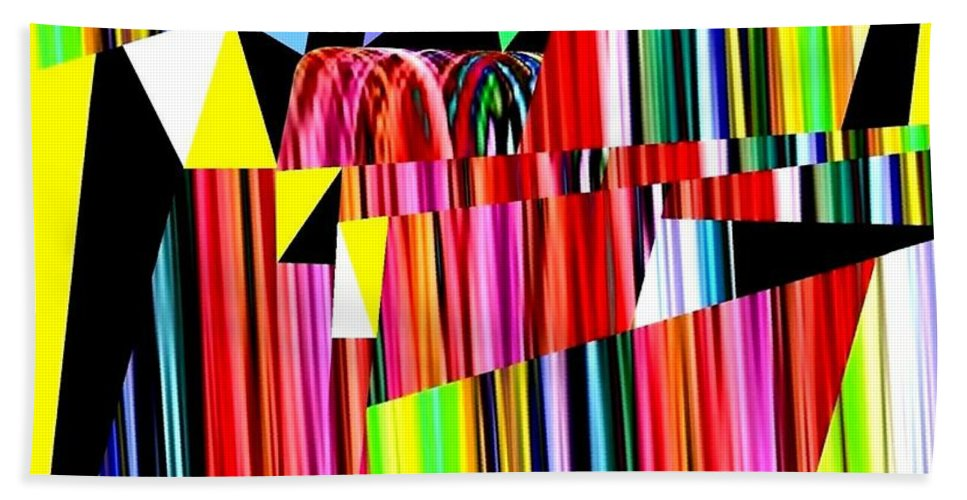 Abstract Beach Towel featuring the digital art Muse 12 by Will Borden