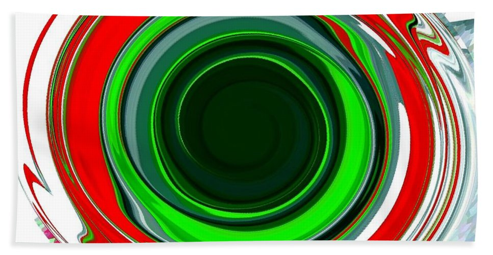 Abstract Beach Towel featuring the digital art Muse 30 by Will Borden