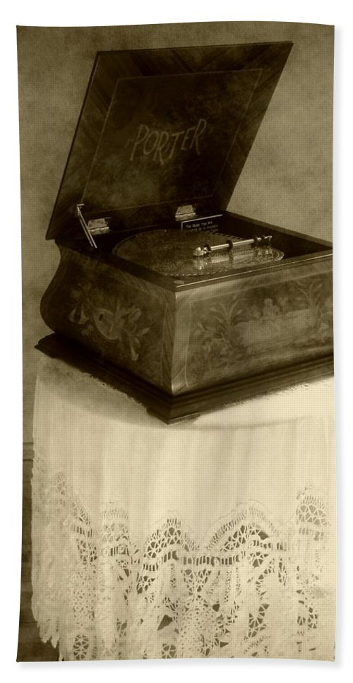 Antique Beach Towel featuring the photograph Music Box Memories by RC DeWinter