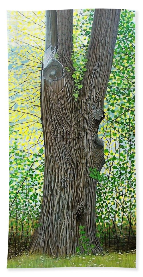 Landscape Beach Towel featuring the painting Muskoka Maple by Kenneth M Kirsch