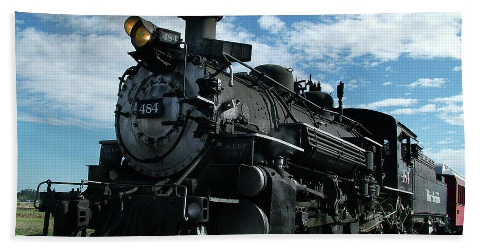 Steam Train Beach Towel featuring the photograph My Best Side by Ken Smith