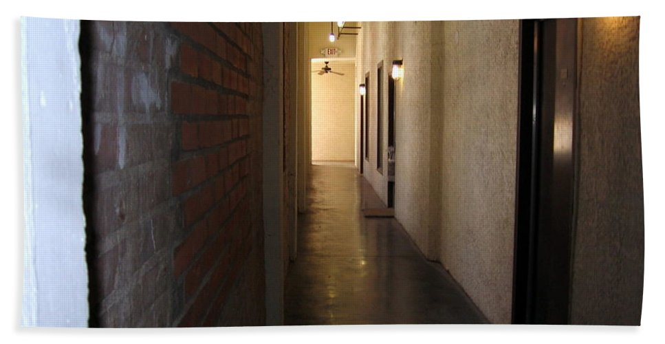 Old Building Beach Towel featuring the photograph My Door by Amy Hosp