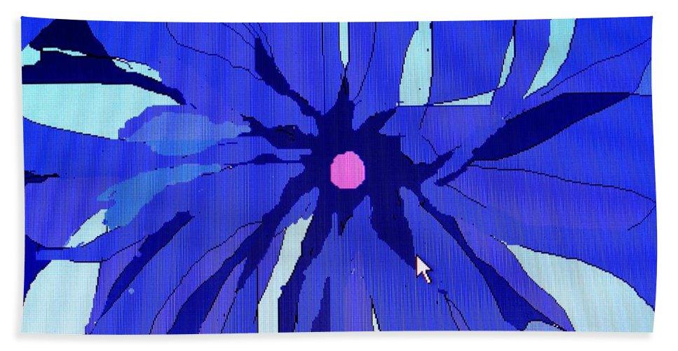 Flower Beach Sheet featuring the digital art My Fantastic Flower by Ian MacDonald