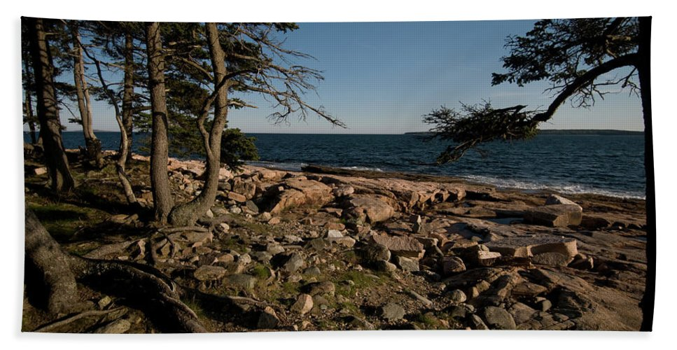 acadia National Park Beach Towel featuring the photograph My Kind Of Beach by Paul Mangold