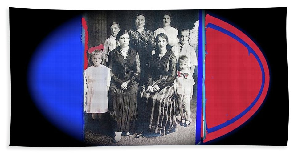 My Mother And Her Family Virginia Minnesota Circa 1919 Beach Towel featuring the photograph My Mother And Her Family Virginia Minnesota Circa 1919 by David Lee Guss