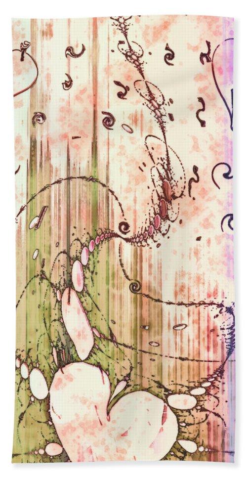 My Valentine Beach Towel featuring the digital art My Valentine by Linda Sannuti