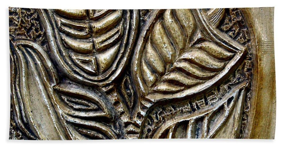 Vintaje Beach Sheet featuring the relief Vintaje Tile With Calas by Madalena Lobao-Tello