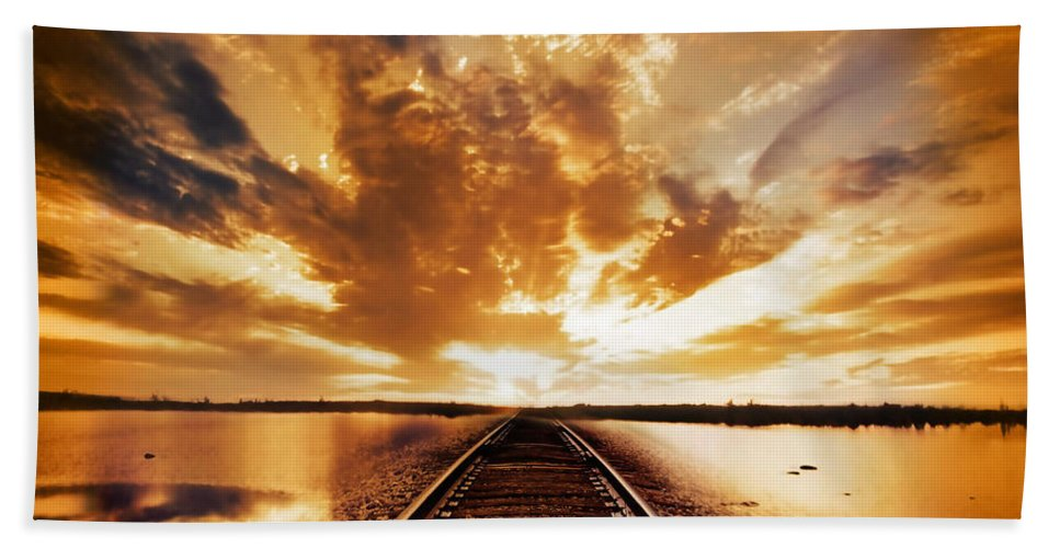 Water Beach Sheet featuring the photograph My Way by Jacky Gerritsen