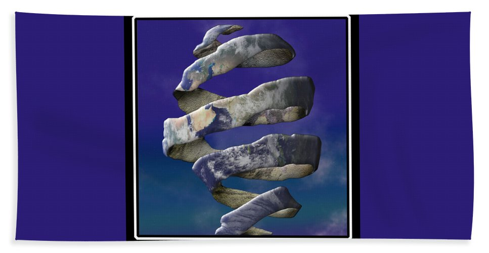 Escher Beach Towel featuring the digital art My World Is Unraveling by Gravityx9 Designs