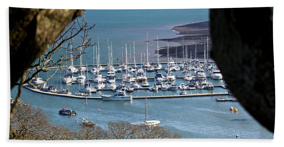 Boats Beach Towel featuring the photograph Mylor Marina by Brian Roscorla
