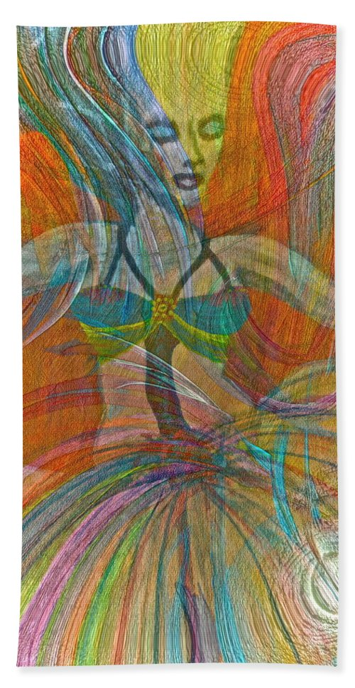 Dance Beach Towel featuring the painting Mysterious Dancer by Gwyn Newcombe