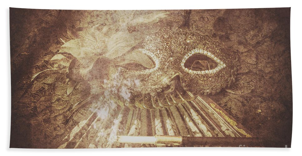 Classical Beach Towel featuring the photograph Mysterious Vintage Masquerade by Jorgo Photography - Wall Art Gallery