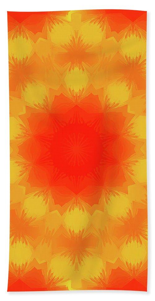 Mandala Art Beach Towel featuring the painting Mystery by Jeelan Clark