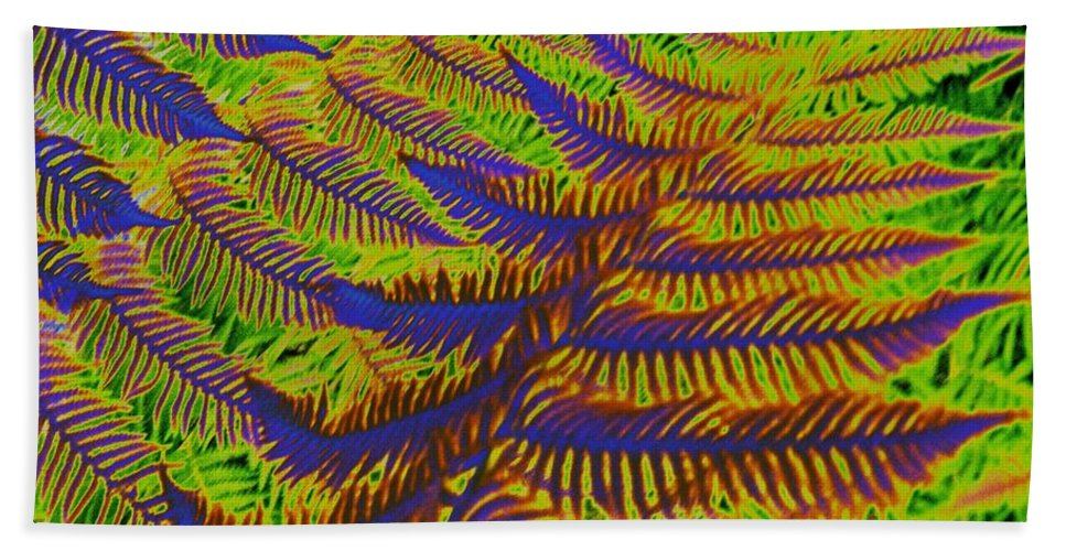 Fern Beach Towel featuring the photograph Mystic Fern by Tim Allen