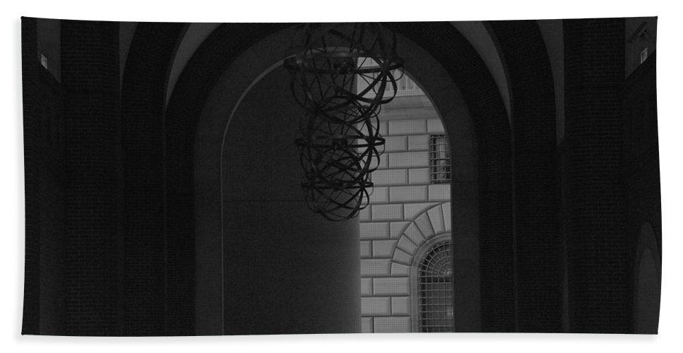 New York City Beach Towel featuring the photograph N Y C Lighted Arch by Rob Hans