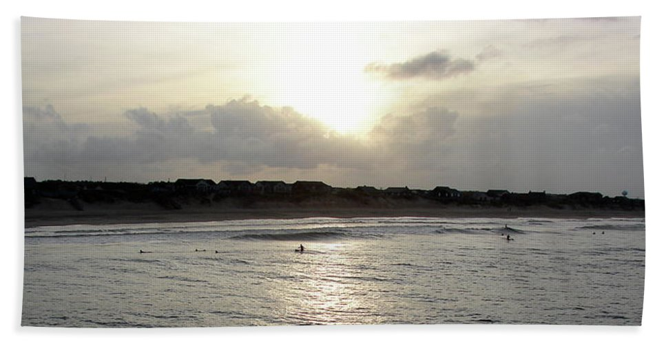 Nags Head Beach Towel featuring the photograph Nags Head Nc Surf by Brett Winn