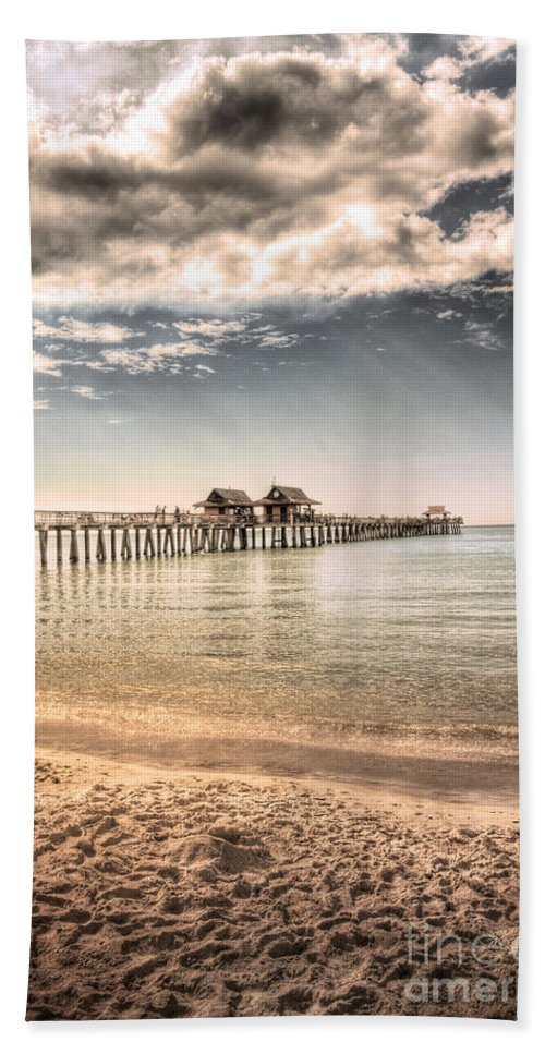 Naples Beach Towel featuring the photograph Naples Pier by Margie Hurwich