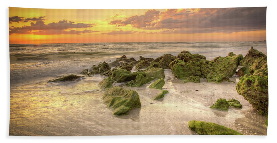 Naples Fl Beach Towel featuring the photograph Naples Sunset by Dennis Goodman