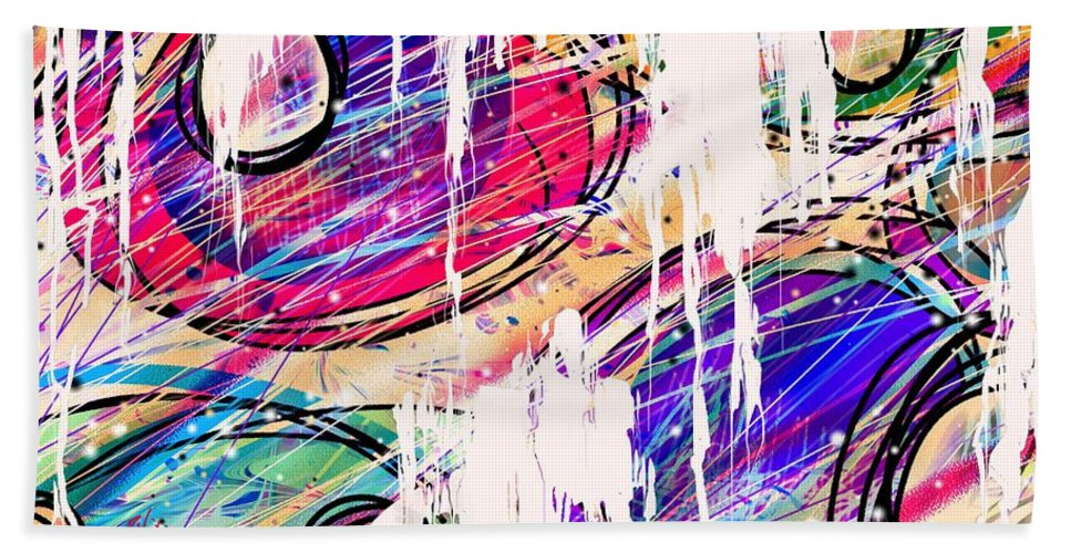 Abstract Beach Towel featuring the digital art Narcotics Of The Mind by Rachel Christine Nowicki
