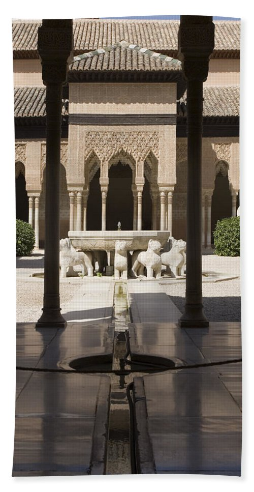 Alhambra Beach Sheet featuring the photograph Nasrid Palaces Alhambra Granada Spain Europe by Mal Bray