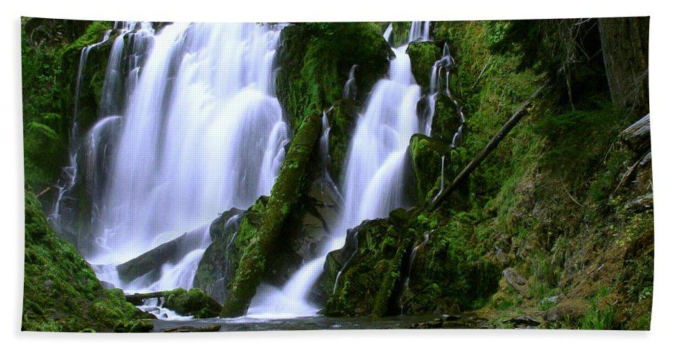 Waterfall Beach Towel featuring the photograph National Creek Falls 02 by Peter Piatt