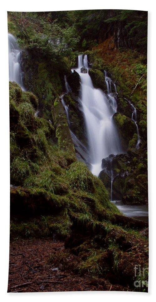 Waterfall Beach Towel featuring the photograph National Creek Falls 04 by Peter Piatt