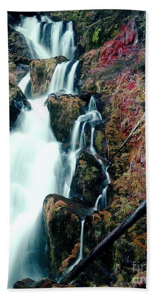 Waterfall Beach Towel featuring the photograph National Creek Falls 07 by Peter Piatt