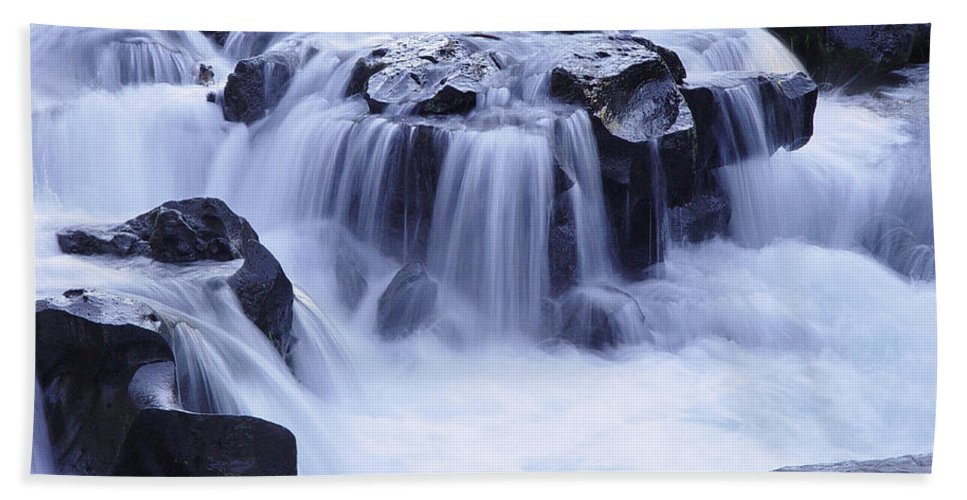 Waterfall Beach Towel featuring the photograph Natural Bridges Falls 01 by Peter Piatt