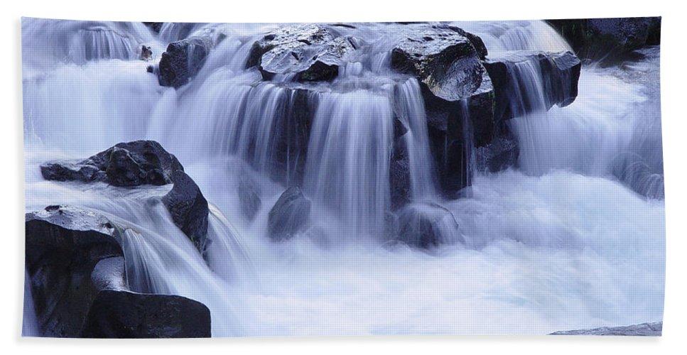 Waterfall Beach Sheet featuring the photograph Natural Bridges Falls 01 by Peter Piatt