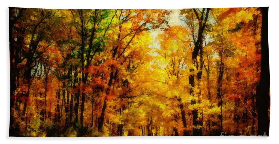 Trees Beach Towel featuring the photograph Natural Cathedral by Lois Bryan