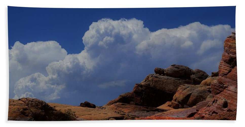 Valley Of Fire Beach Towel featuring the photograph Natural Colors by John Glass