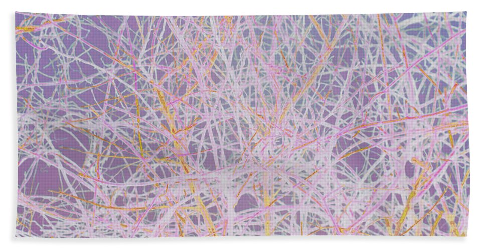 Absstract Beach Towel featuring the mixed media Natural Drip Art 3 by Steven Natanson