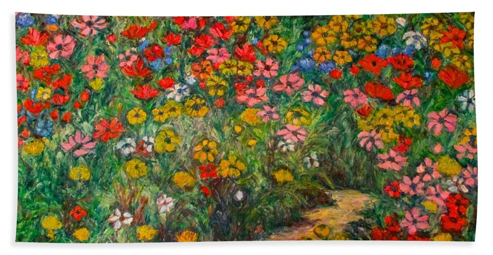 Wildflowers Beach Towel featuring the painting Natural Rhythm by Kendall Kessler