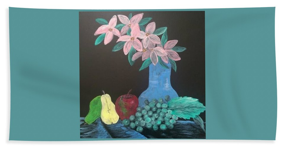 Flowers Beach Towel featuring the painting Natural by Richard Cooper