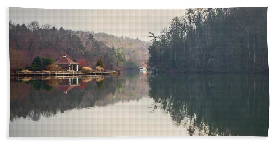 Nature Beach Towel featuring the photograph Nature Views Near Chimney Rock And Lake Lure by Alex Grichenko
