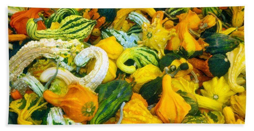 Nature Beach Towel featuring the painting Natures Bounty by David Lee Thompson
