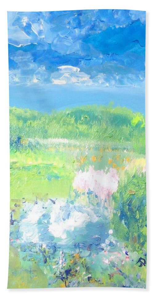 Bounty Beach Towel featuring the painting Natures Bounty by Judith Desrosiers