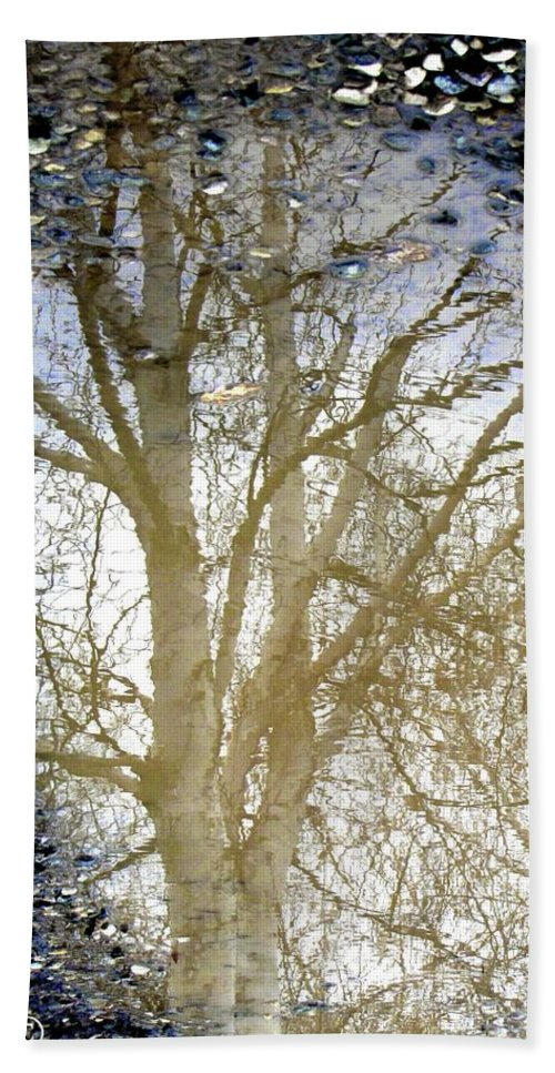 Puddle Beach Towel featuring the photograph Natures Looking Glass 4 by September Stone