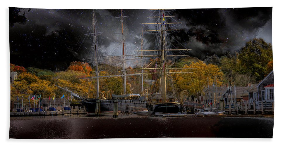 Nautical Beach Towel featuring the photograph Nautical-7-a by Larry White