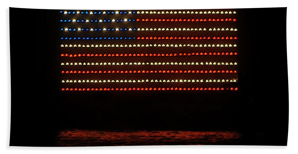 Art Beach Towel featuring the painting Navy Seals Flag by David Lee Thompson