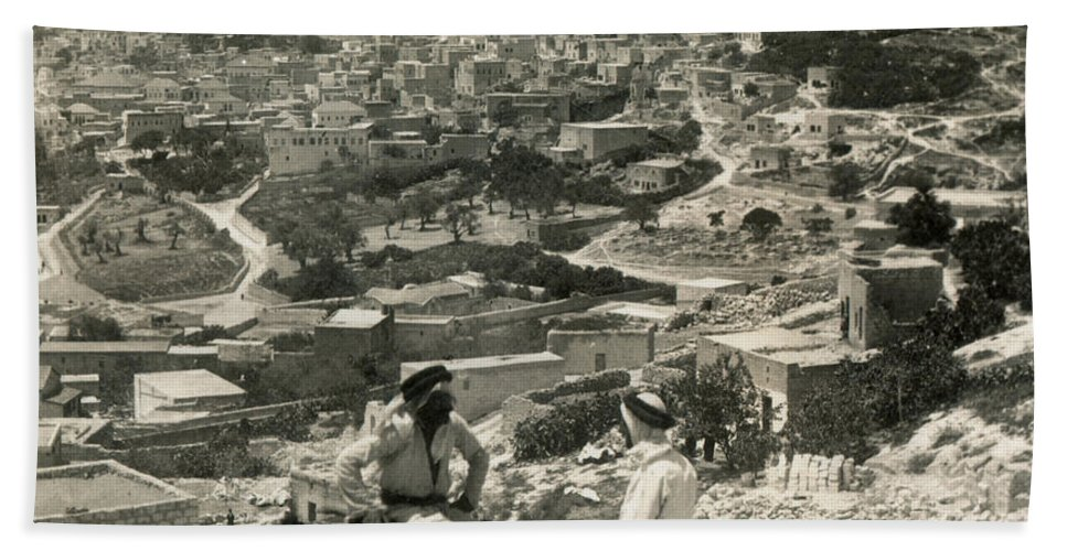 1920s Beach Towel featuring the photograph Nazareth, Palestine, C1920 by Granger