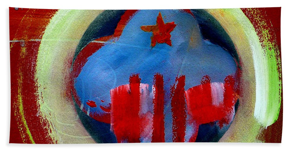 American State Beach Towel featuring the painting Nebraska by Charles Stuart
