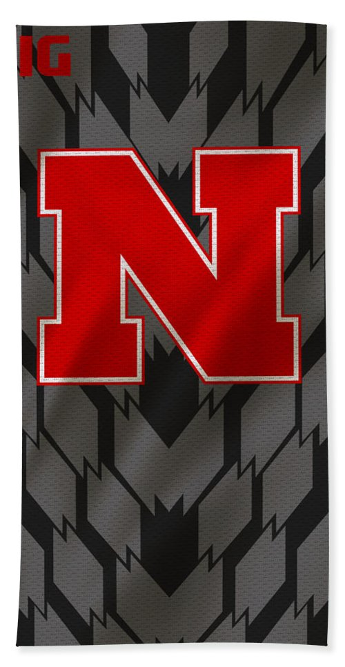 Nebraska Cornhuskers Beach Towel featuring the photograph Nebraska Cornhuskers Uniform by Joe Hamilton