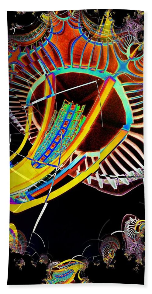 Seattle Beach Towel featuring the photograph Needle In Fractal 2 by Tim Allen