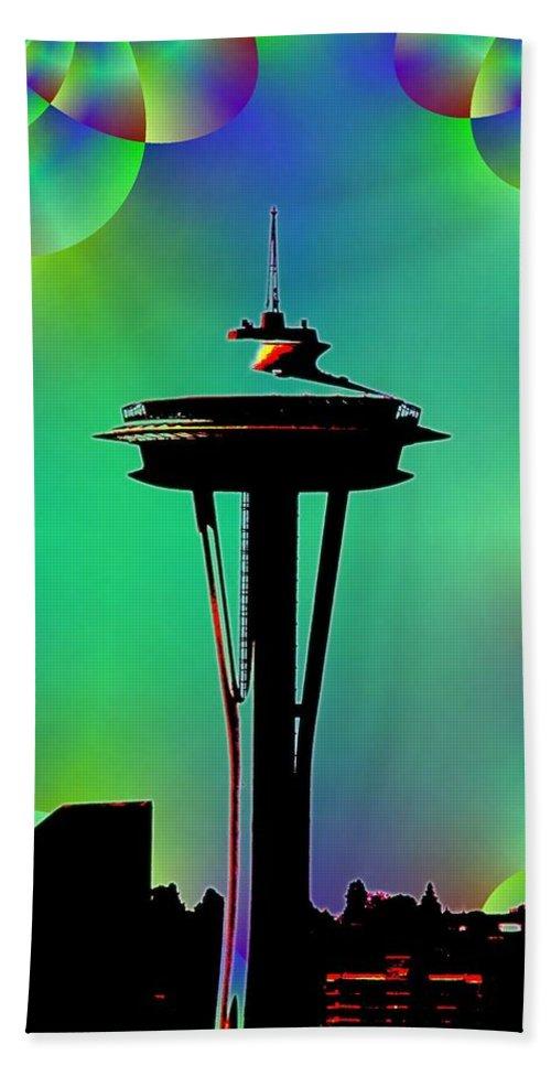Seattle Beach Towel featuring the digital art Needle In Fractal 3 by Tim Allen