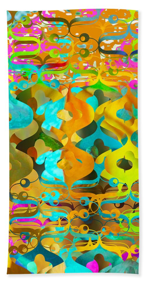 Abstract Beach Towel featuring the digital art Nemo by Ceil Diskin